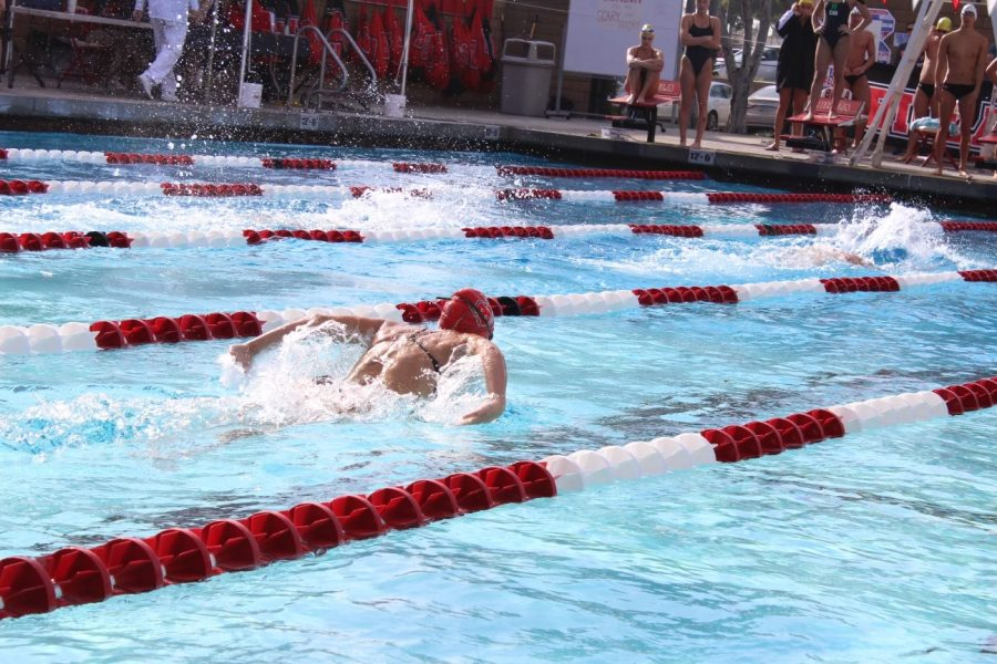 Women's swim places first in Rodionoff Invitational