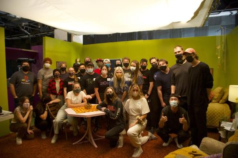 The cast and crew of Incalculable Unknowns gather for a post-production picture.