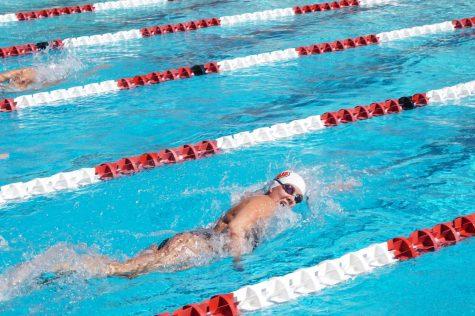 Women's swim and dive went underwater against Azusa