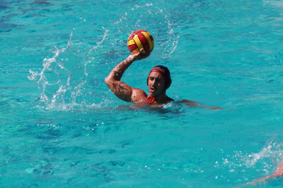Men's water polo compete in the Gary Troyer tournament